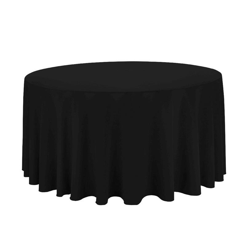 tischdecke rund 290cm schwarz vermietung 14 90. Black Bedroom Furniture Sets. Home Design Ideas